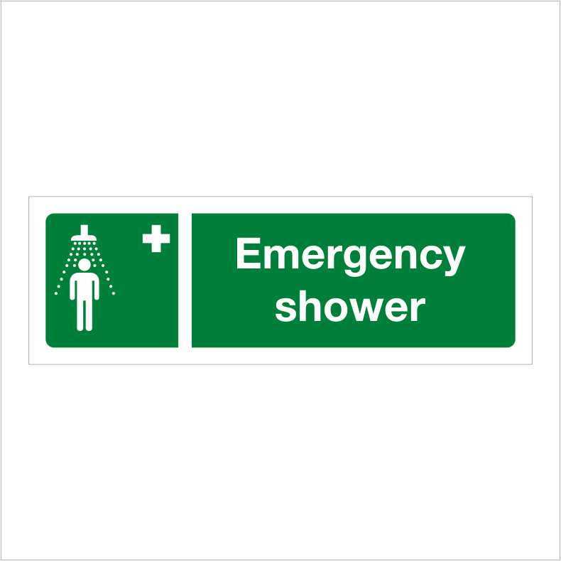 G207 Safe Condition Sign Emergency Shower Signify Signs