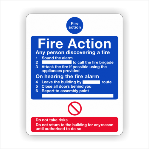 Fire action 1